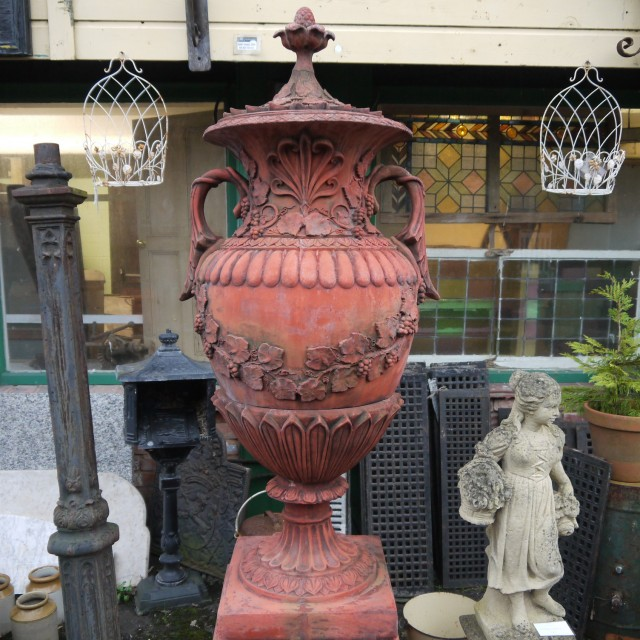 Swedish Vase On Plinth Urns & Pots
