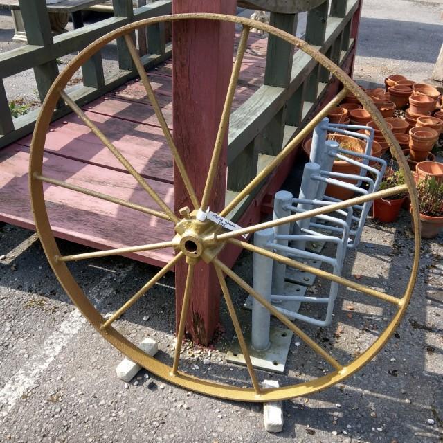 Metal Wheel Other Garden Items