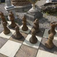 Large Stone Chess Set Seating