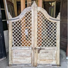 Large Cream Painted Gates Gates & Railings