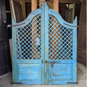 Large Blue Painted Gates Gates & Railings