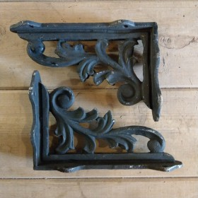 Pair Cast Leaf Brackets Brackets