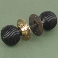 Ebony Beehive Doorknob Doorknobs