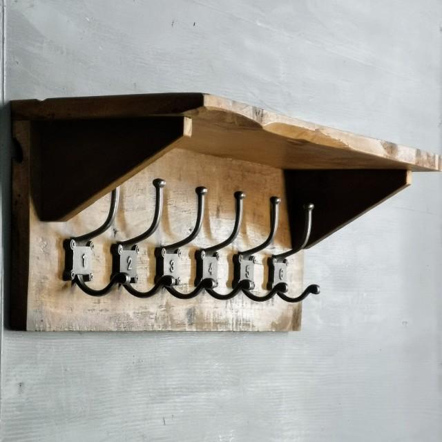 1-6 Hook Rack with Shelf Hooks