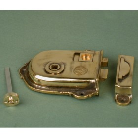 Cast Brass Cromwell Rim Latch Locks