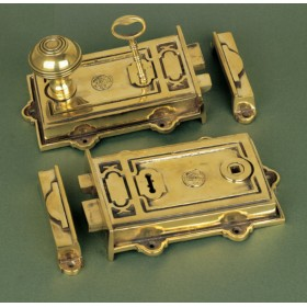 Solid Brass Davenport Rim Lock Locks
