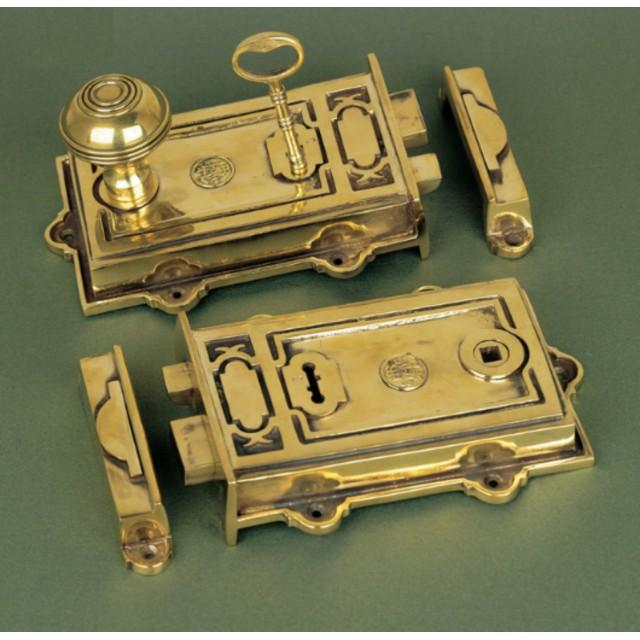 Solid Brass Davenport Rim Lock Locks