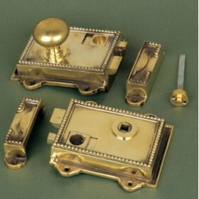 Cast Brass Regency Rim Latch Locks