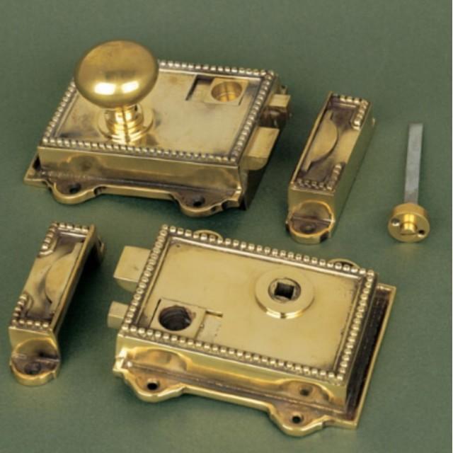 Cast Brass Regency Rim Latch Locks