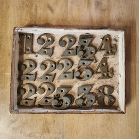 Reclaimed Brass Numerals Reclaimed Ironmongery