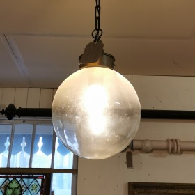 Glass & Zinc Hanging Light Ceiling Lights