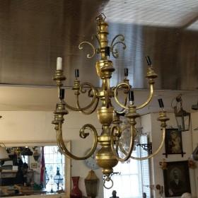 1930s Brass Chandeliers Chandeliers