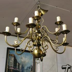 12 Arm Brass Chandelier Chandeliers