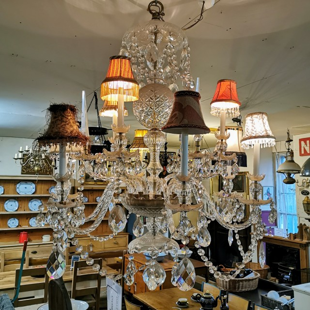Crystal Glass Chandelier - Coloured Chandeliers