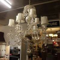 Crystal Glass Chandelier - White Chandeliers