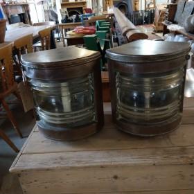 Copper Ship's Lanterns Reclaimed Industrial Lights