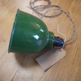 Small Green French Light Reclaimed Industrial Lights