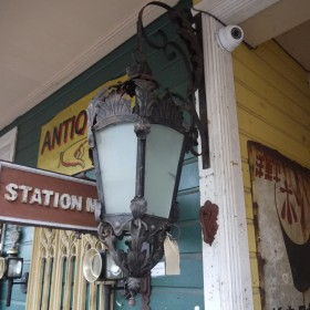 Ornate Hanging Light Lamp Posts and Tops