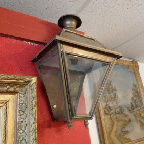 Glastonbury Large Brass Wall Lamp Lamp Posts and Tops