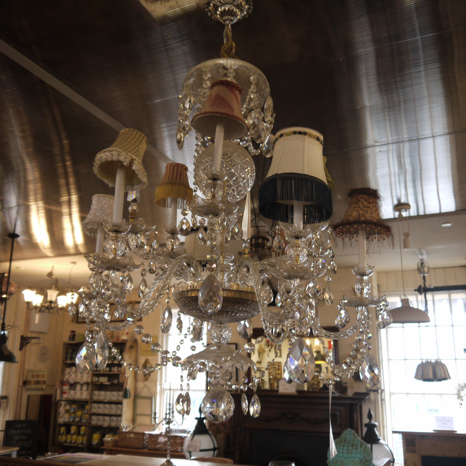 size 40 b279d 950b7 Crystal Glass Chandelier - Coloured