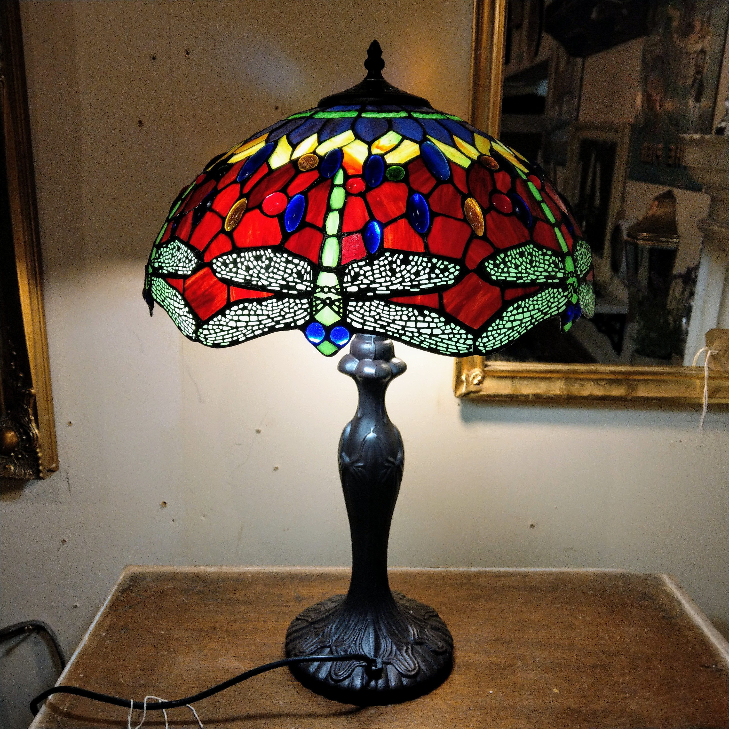 Large Dragonfly Tiffany Lamp